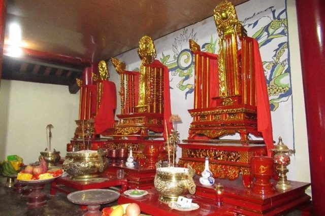 Ngai thờ 3 vị vua Hùng ở thôn Cổ Tích, xã Hy Cương, Việt Trì, Phú Thọ.