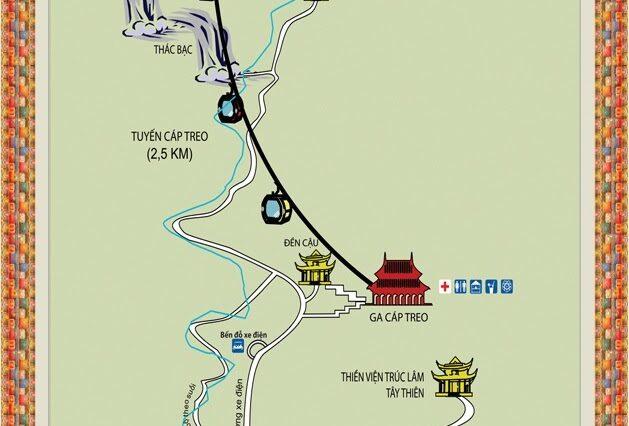 Bản đồ Đền Thờ Quốc Mẫu Tây Thiên