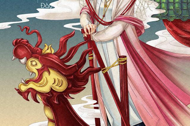Tranh vẽ Cô Bơ Thoải Cung, thuộc dự án Divine Portraits - Thánh Nhan. Hoạ sĩ Tree